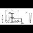 Dimensions of Martyr CM-821630C2 Mercruiser I/O Gen II Bravo Transom Plate Anode - Zinc