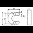 Dimensions of Martyr CM-806189 Mercruiser Inboard/Outboard - Lift Ram Horseshoe Anode - Zinc