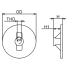 Dimensions of Martyr Mercury Force/Mariner Outboard Circular Plate Anode - Zinc