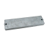 front view of Martyr Mercury, Force, Mariner Outboard Waffle Bar Anode - Zinc