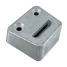 angle view of Martyr Volvo Plate Anodes - Zinc