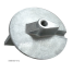 bottom view of Martyr Yamaha Skeg Anodes - Zinc