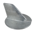 top view of Martyr Yamaha Skeg Anodes - Zinc