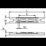 Dimensions of Martyr Yamaha Transom Bar Anode - Zinc