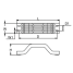 Dimensions of Martyr Yamaha Transom Handle Anode - Zinc