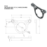"""Dimensions of NavPod SS Top Plate for 9-1/2"""" AngleGuard w/ 1-1/4"""" Tubing - for Edson Pedestals"""