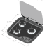 Dimensions of Norcold Top Line Euro 169 Three Burner Propane Cooktop