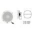 dimensions of Poly-Planar VHF Extension Speakers Flush Mount