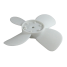 angle view of Red Dot Fan Blade for R-254 & R-255 Auxiliary Hydronic Heaters