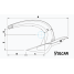 Dimensions of Rocna Anchors Vulcan Anchor - Galvanized Steel