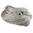 full view of Samson HarborMaster Double Braid Nylon Anchor Lines - Pre-Spliced White w/ Tracers
