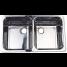 "10239 of Scandvik Rectangular Symmetric SS Double Sink - 25"" Wide, Mirror Finish, Model 10239"