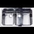 10235 of Scandvik Rectangle Asymmetric Double Sink - Mirror Finish