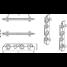 diagram of Sea-Dog Line 4 Pole Rod Storage Rack