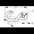 Snap Hook - Offset Gate w⁄Eye Insert & Toothless Key-Lock System