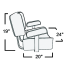 Deluxe Captain's Seat w/Stand - Black