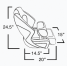 Dimensions of Springfield Marine Deluxe Sport Flip-Up Seat