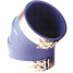 Trident Marine Hose 240V Series 45 Deg Very High Temperature Blue Silicone Blend Exhaust Elbows