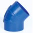 Trident Marine Hose & Propane 240V Series 45 Deg Very High Temperature Blue Silicone Blend Exhaust Elbows