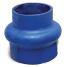 Trident Marine Hose & Propane Straight Reducing Exhaust Bellows - Blue Silicone