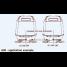 Diagram of U-flex A90 Tie Bar -for Twin Outboard Engines w/ Dual Hydraulic Steering Cylinders