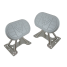 half of Weaver Industries Universal Dinghy Chocks with Tilting Pads - 1,000 lb Capacity