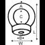 diagram of Wichard Eye Nut - Metric Versions