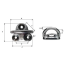 Dimensions of Wichard Low Profile Folding Pad Eyes