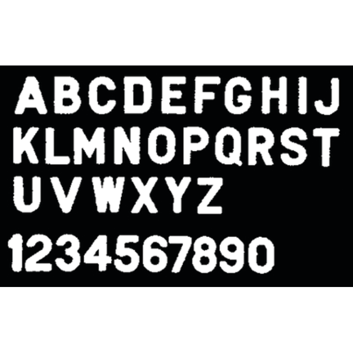 """3"""" Gothic Plastic Numbers & Letters"""
