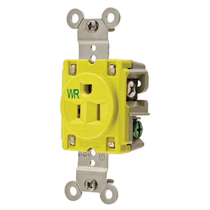 15 Amp Straight Blade Outlet Receptacles