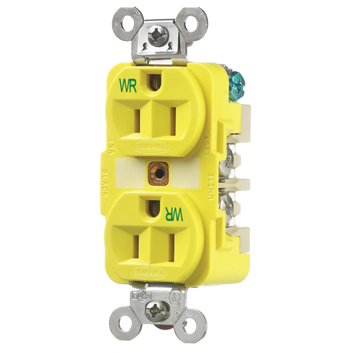15 Amp Straight Blade Duplex Outlet Receptacles