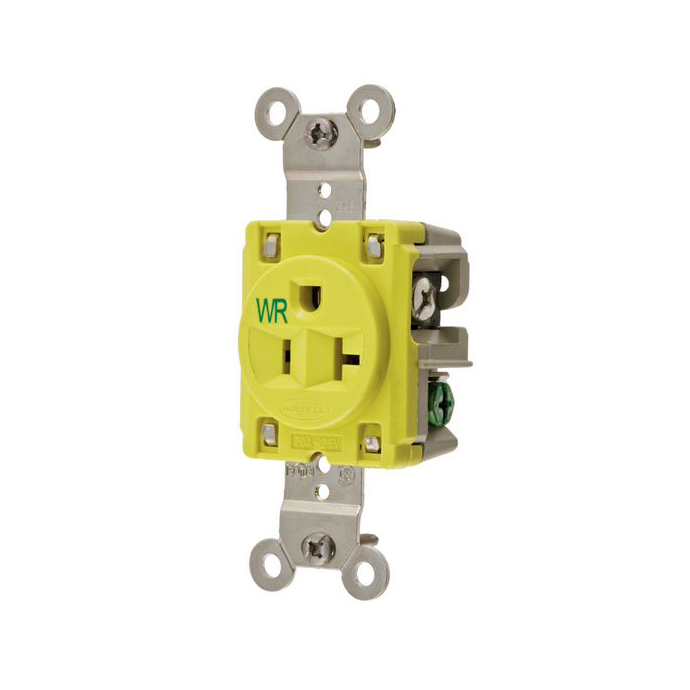 20 Amp 125 Volt Straight Blade Single outlet Receptacle