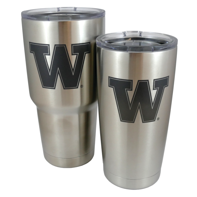 Rambler Stainless Steel Insulated Tumbler - with UW Logo, 20 or 30 oz Sizes 1