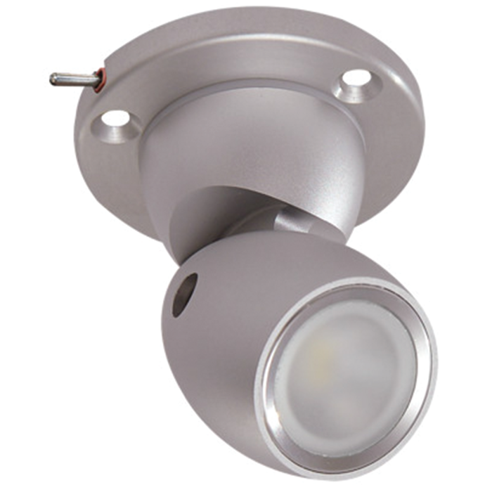GAI2 Directional LED Light with Heavy Duty Base - Brushed Aluminum, with Switch 1