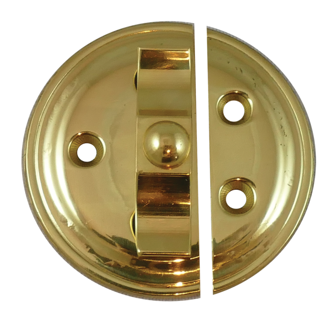Brass Turn Button on Plate 1