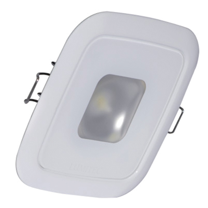 """2-5/8"""" Square Mirage LED Recessed Down Light - White Finish, Spring Clips 1"""