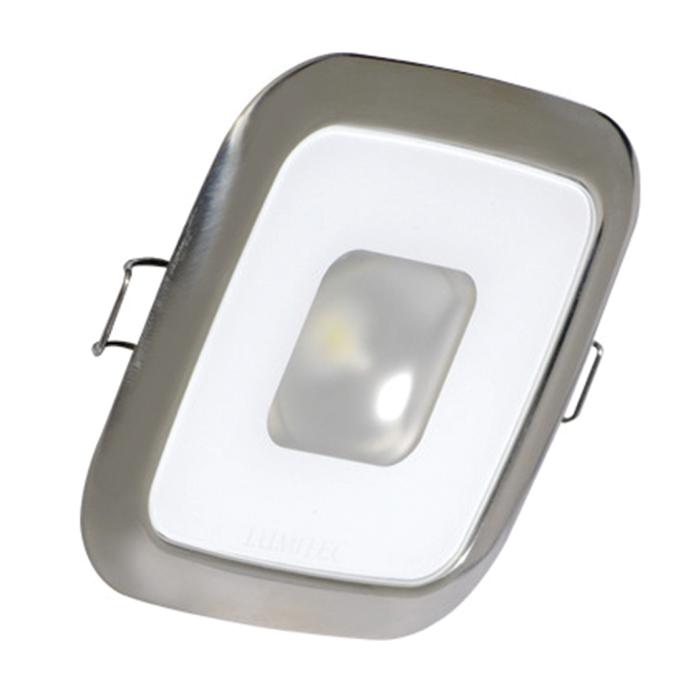 """2-5/8"""" Square Mirage Recessed LED Down Light - White w/ Polished SS Trim 1"""