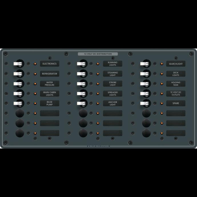 DC 24 Position Circuit Breaker Panel