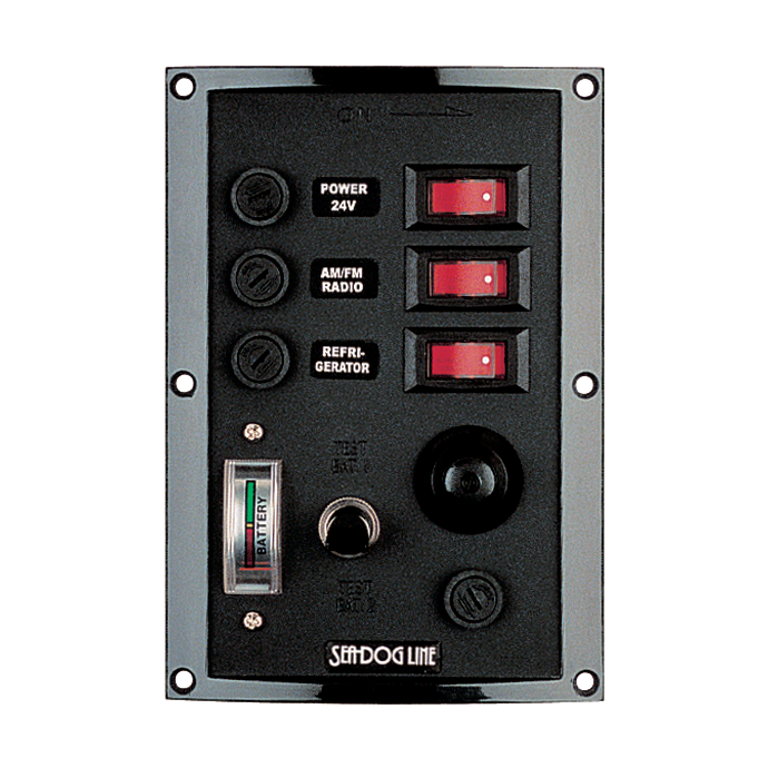 Switch/Fuse Panel w/ Battery Tester and Horn Button or Lighter
