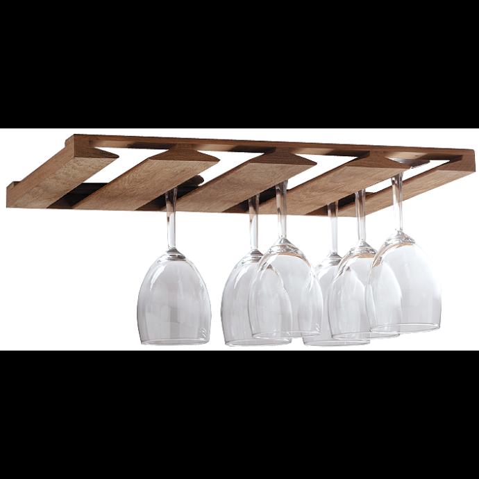 Overhead Teak Wineglass Rack