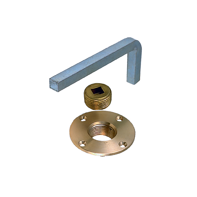 Garboard Drain Plug with Steel Wrench