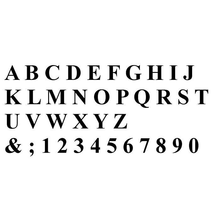 """5"""" Classic Roman Numbers & Letters"""