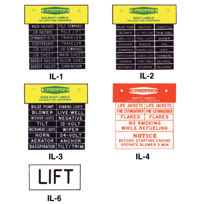Pressure-Sensitive Identi-Label Sets