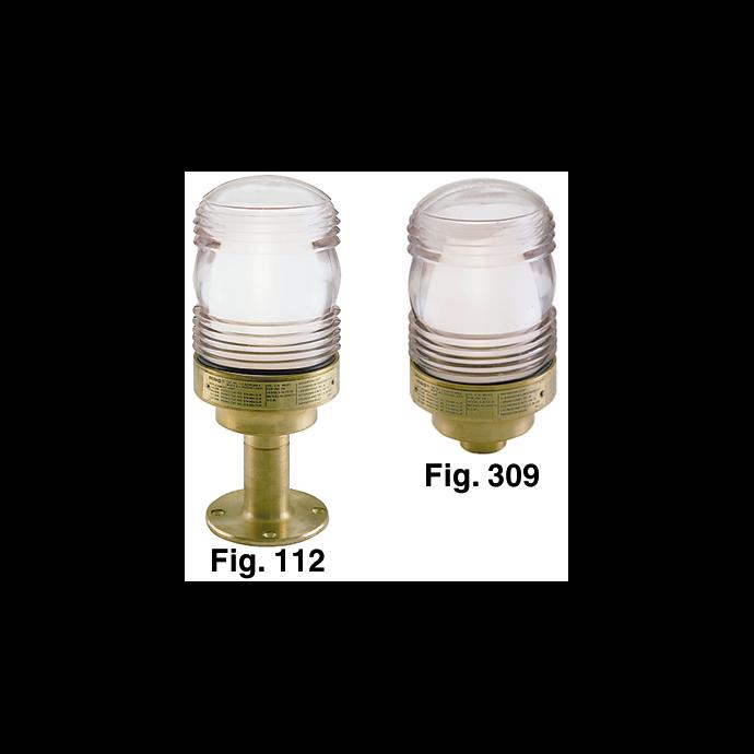 Figs. 112B & 309B - All-Round Cast Bronze Navigation Lights
