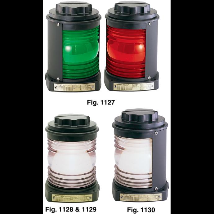 Figs. 1127-1130 - Navigation Lights w/Black Housing