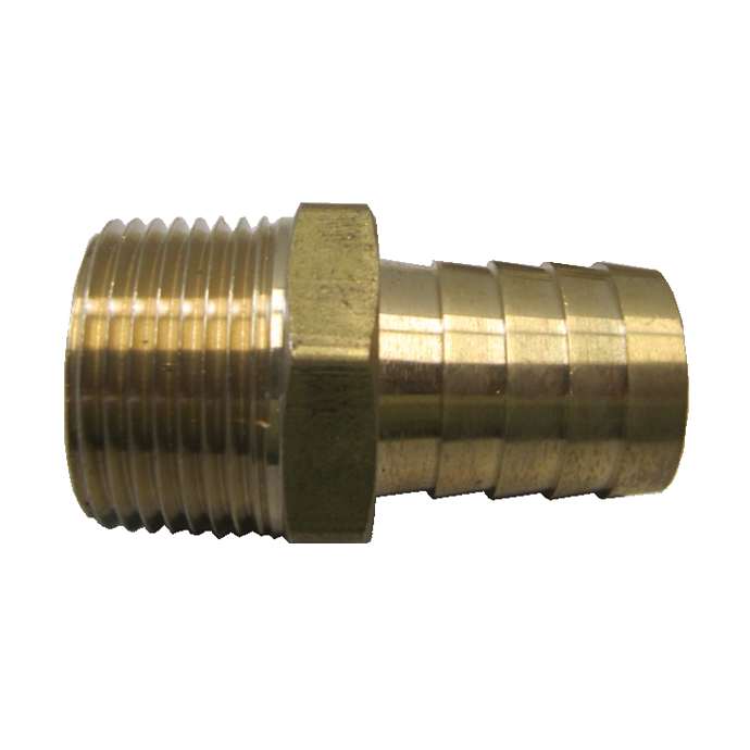 Pipe to Hose Adapter - Machined Brass