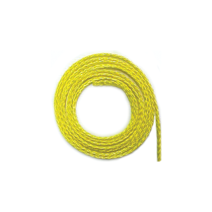 Yellow Hollow Braid Polypropylene Line
