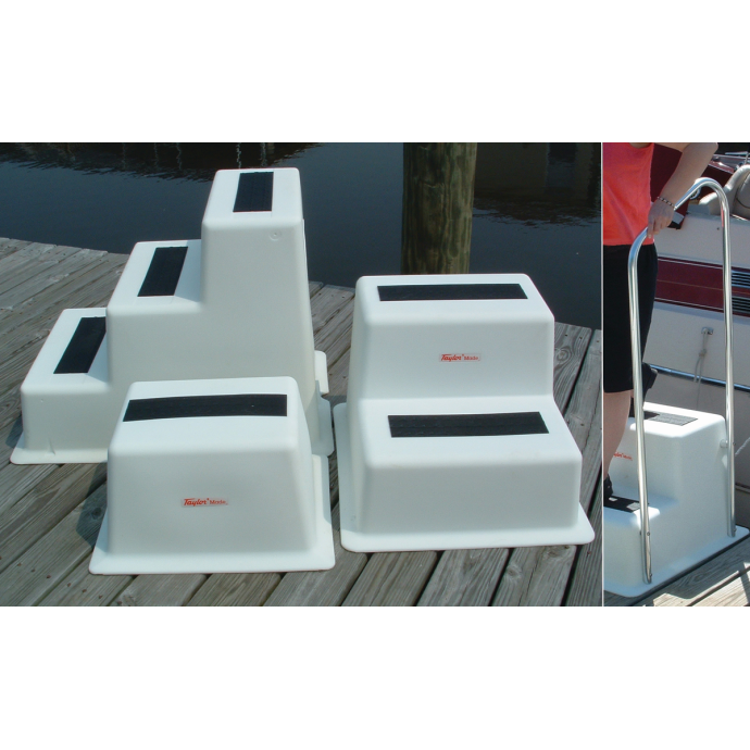 StepSafe™ Dock Step and Optional Hand Rail