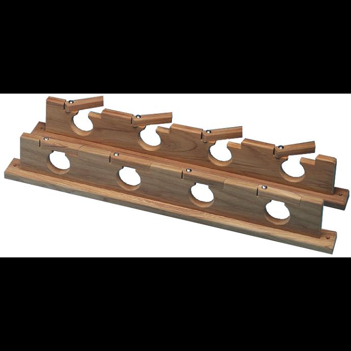 Teak Lock-In Four Rod Storage Rack