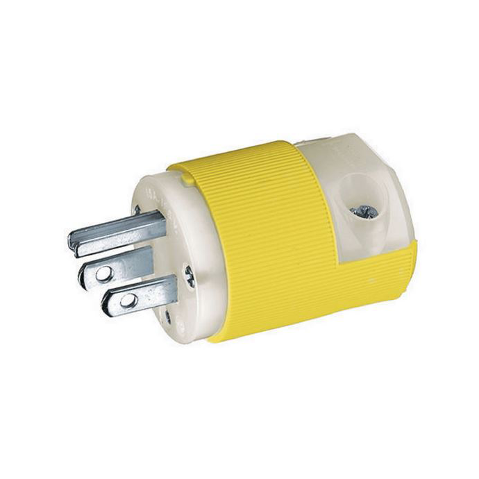 Marine 15 Amp Straight Blade Shore Power Plug & Connector